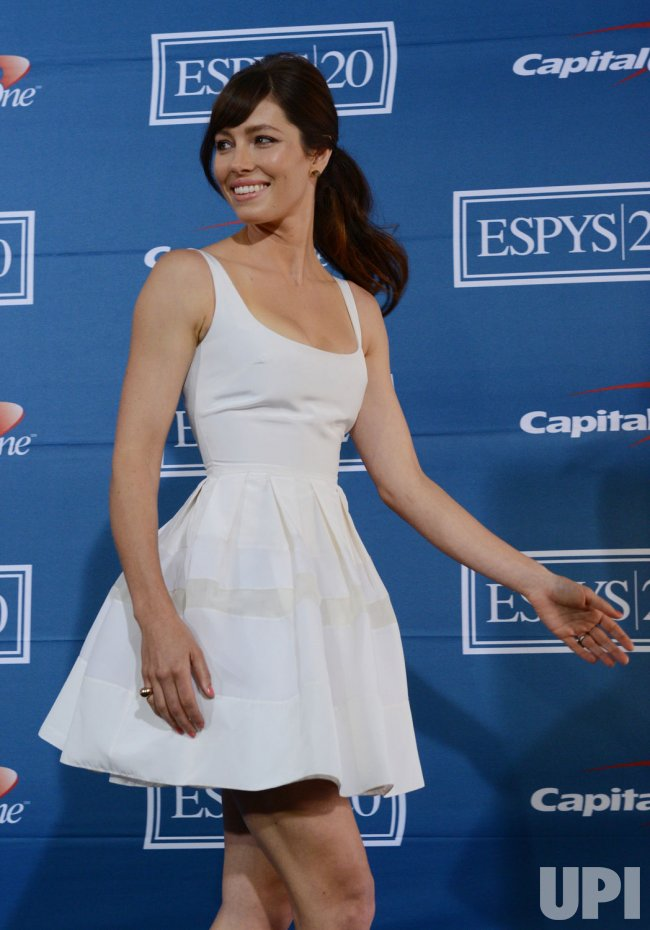 Jessica Biel appears backstage at the 2012 ESPY Awards in Los Angeles