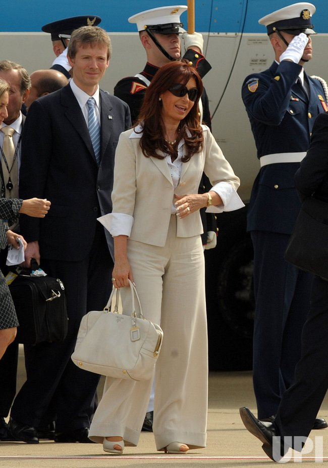 Argentina's President Cristina Fernandez de Kirchner arrives for the G20 Pittsburgh Summit
