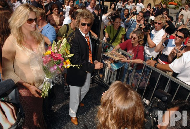 ROD STEWART RECEIVES STAR ON HOLLYWOOD WALK OF FAME