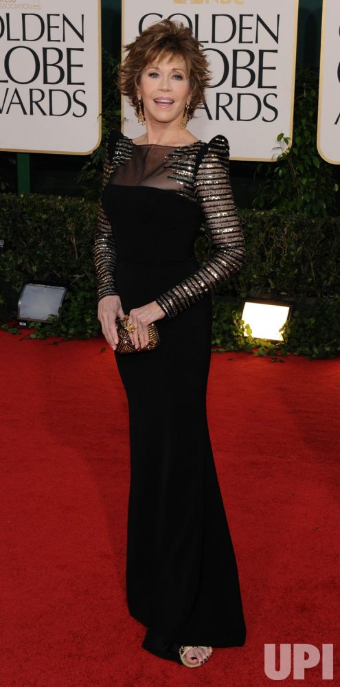 Jane Fonda arrives at the 68th annual Golden Globe Awards in Beverly Hills, California