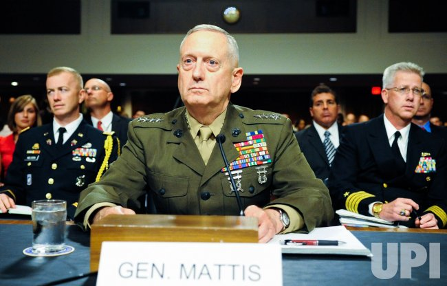 Gen. James Mattis nominated to replace Gen. David Petraeus as the commander of U.S. Central Command in Washington