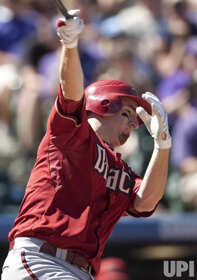 Diamondbacks LaRoche Bats in Denver