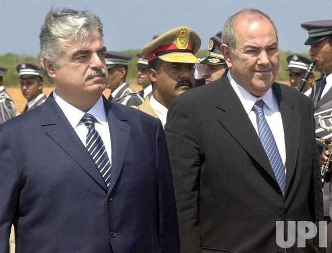 IRAQI PM VISITS LEBANON