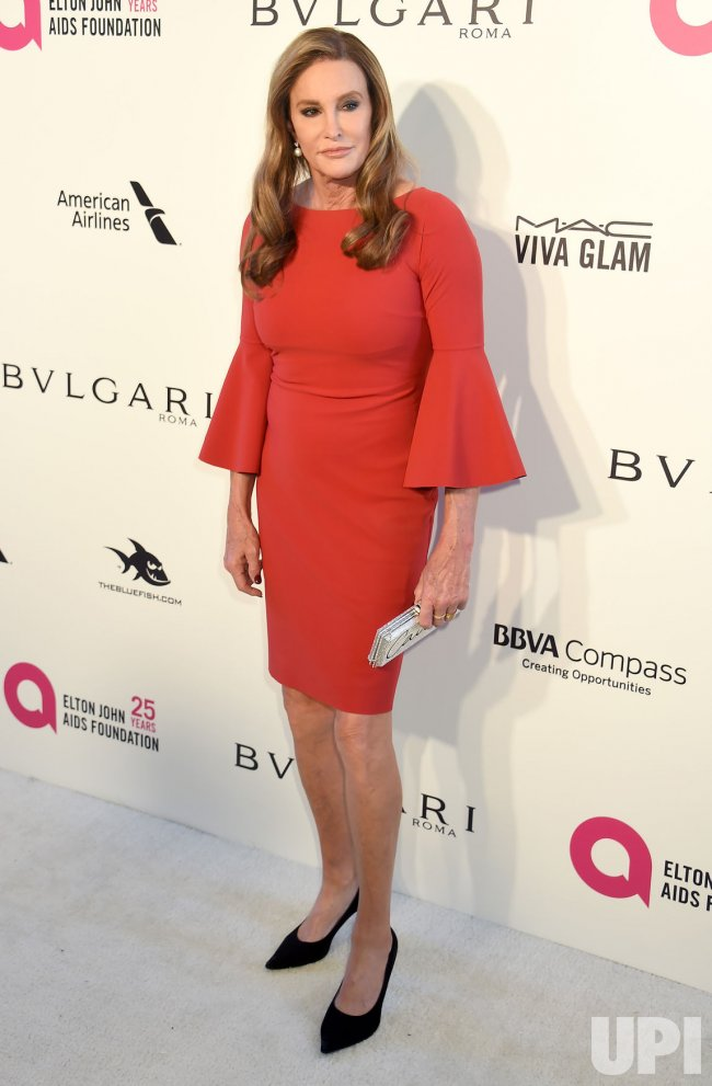 Caitlyn Jenner attends the Elton John Aids Foundation Oscar viewing party in Los Angeles