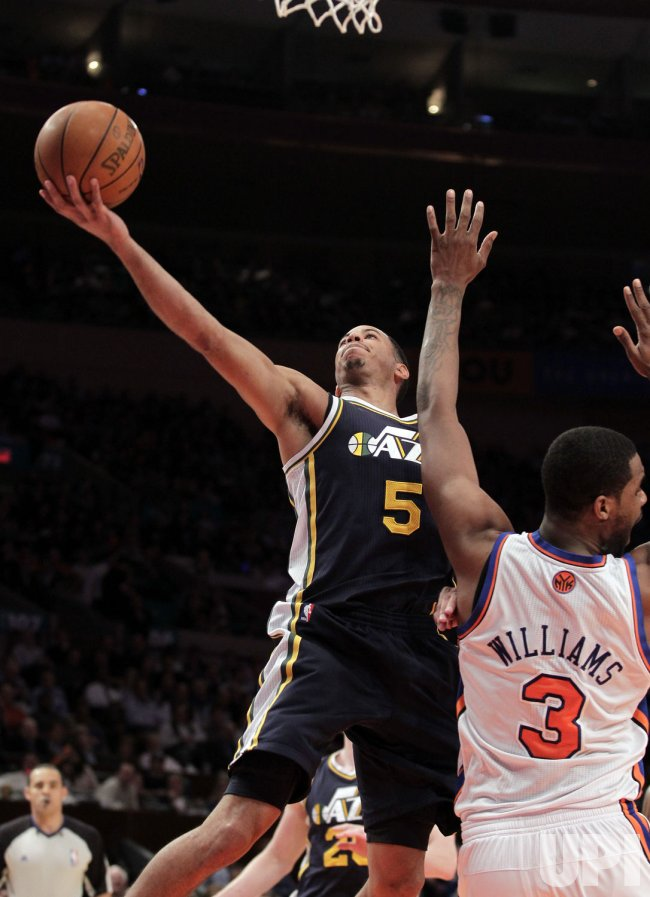 Utah Jazz Devin Harris at Madison Square Garden in New York