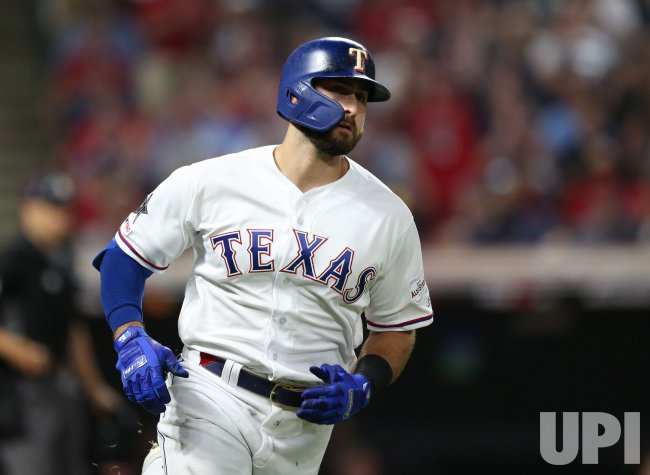 Rangers' Joey Gallo rounds the bases after solo home run against NL during the MLB All-Star Game
