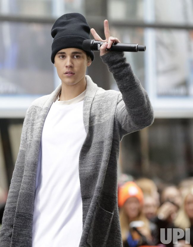 Justin Bieber performs on the NBC Today Show