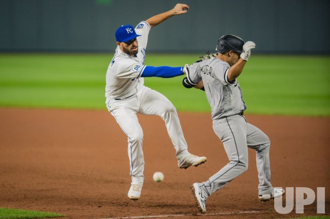 Royals Nicky Lopez Misses the Tag on White Sox Nick Madrigal