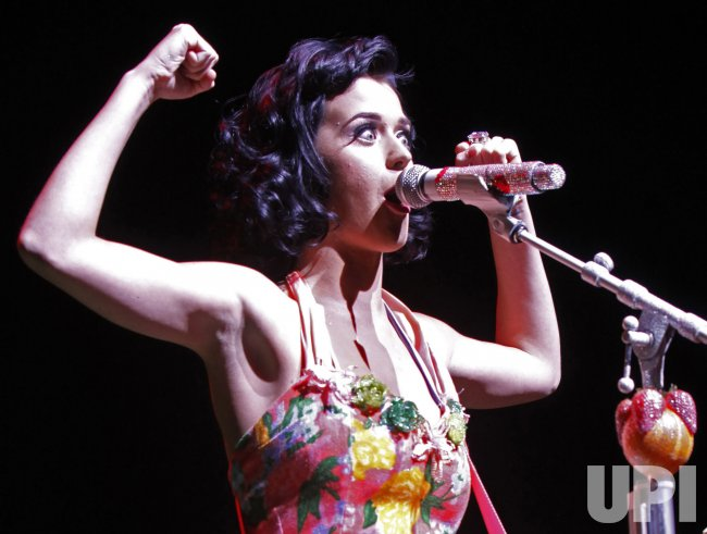 Katy Perry performs in concert in Paris