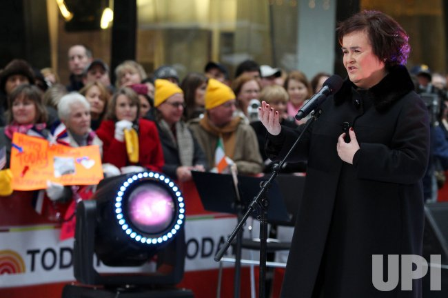 Susan Boyle performs on the NBC Today Show at Rockefeller Center in New York