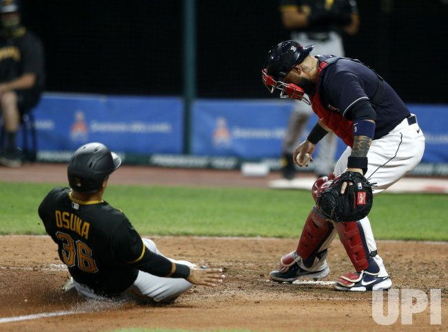 Pittsburgh Pirates vs Cleveland Indians Exhibition Game in Cleveland