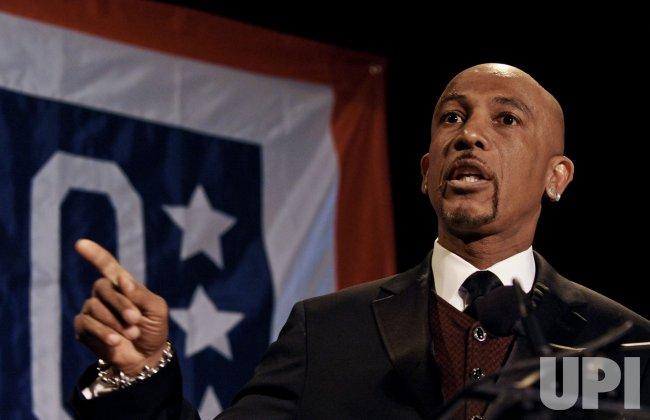 Montel Williams speaks at the USO 28th Annual Awards Dinner in Arlington, Virginia