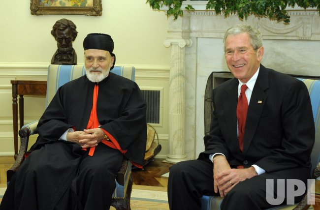 Bush meets with Maronite Patriarch of Lebanon at White House