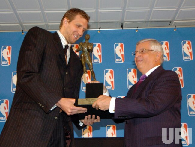 DALLAS MAVERICKS DIRK NOWITZKI NAMED NBA MVP