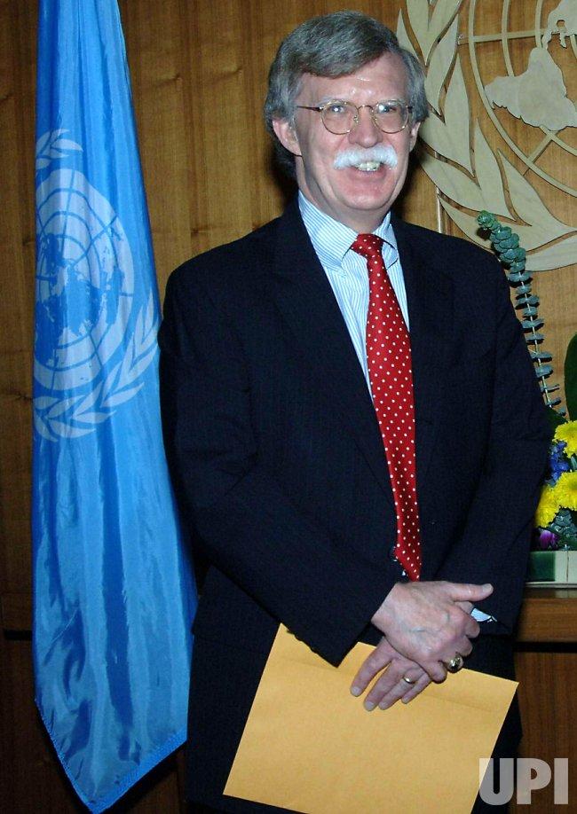 JOHN BOLTON NEW UNITED STATES AMBASSADOR TO U.N.