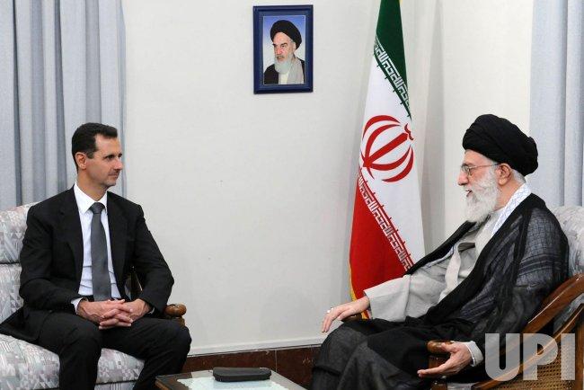 Syria's President Bashar al-Assad meets with Iran' Suprem Leader Ayatolah Khamenei