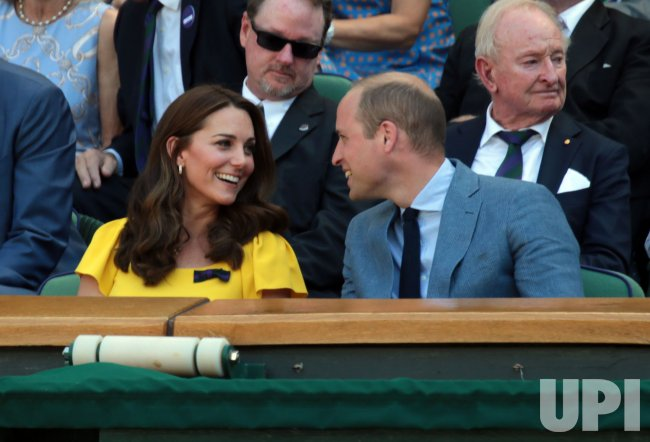 The Duke and Duchess of Cambridge at Wimbledon Men's Final