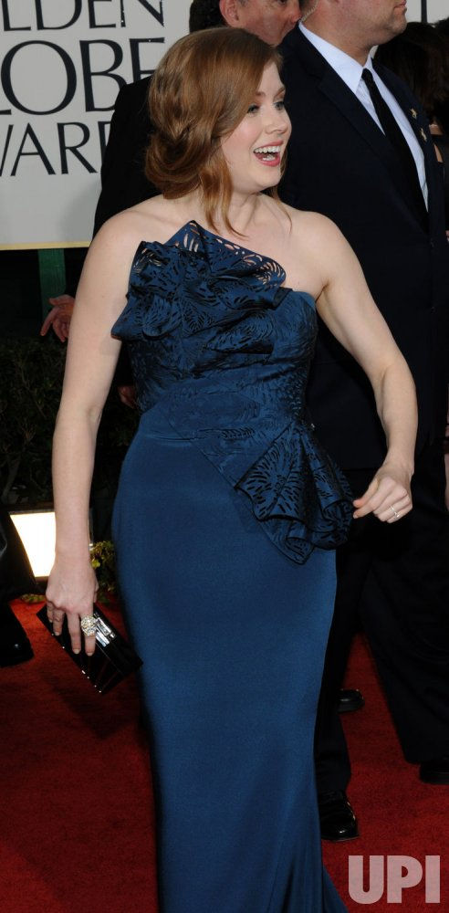 Amy Adams arrives at the 68th annual Golden Globe Awards in Beverly Hills, California