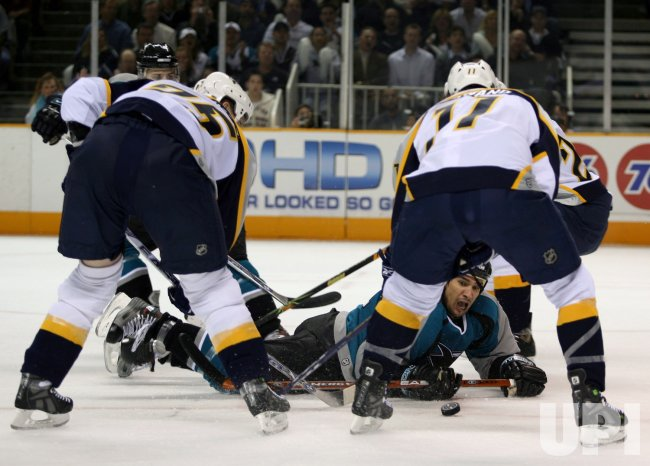 NASHVILLE PREDATORS VS SAN JOSE SHARKS IN WESTERN CONFERENCE QUARTERFINALS