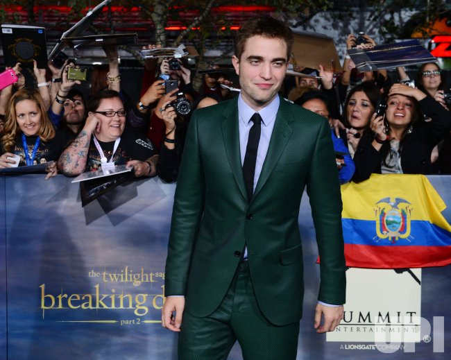 "Robert Pattinson attends ""The Twilight Saga: Breaking Dawn - Part 2"" premiere in Los Angeles"