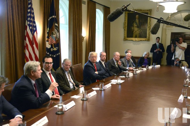 President Trump holds a meeting with members of Congress on immigration