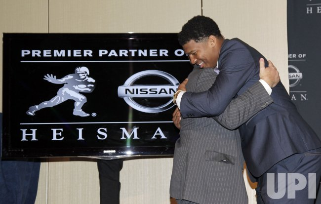Florida State University Jameis Winston wins the Heisman Trophy Award