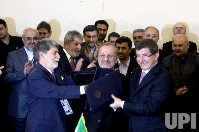 Iran, Brazil, Turkey sign Nuclear Agreement in Theran, Iran