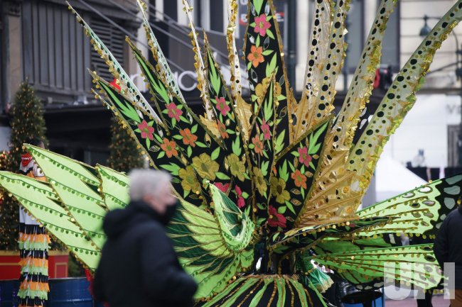 Preperations and Television Taping for Macy's Thanksgivng Day Parade