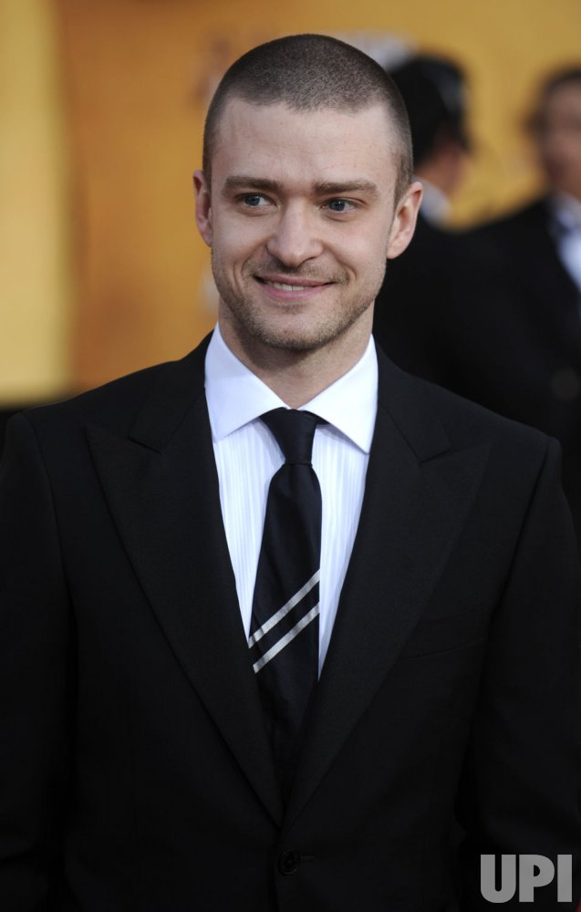 Justin Timberlake arrives at the 17th annual Screen Actors Guild Awards in Los Angeles