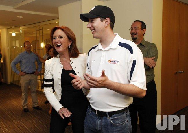 NASCAR driver Kyle Busch visits Feeding America
