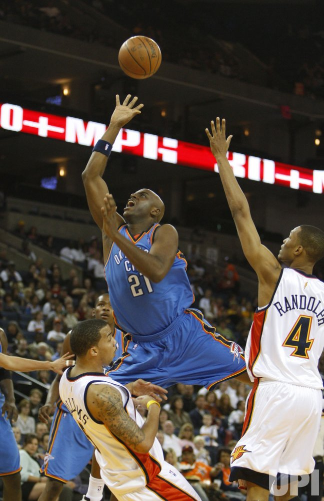 Golden State Warriors host Oklahoma City Thunder in pre season basketball