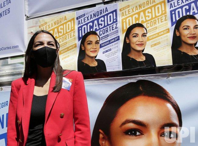 Congresswoman Alexandria Ocasio-Cortez Greets Voters