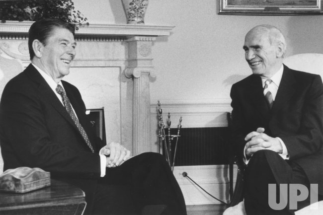 President Reagan Meets with Rudolf Kirchschläger