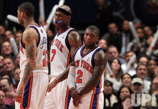 pretty nice 66ba4 abe3a New York Knicks Nate Robinson (2) Al Harringon at Madison ...