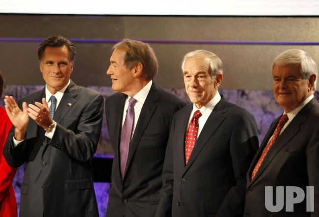 Republican candidates for US President line up for a photo at Dartmouth College in Hanover, New Hampshire