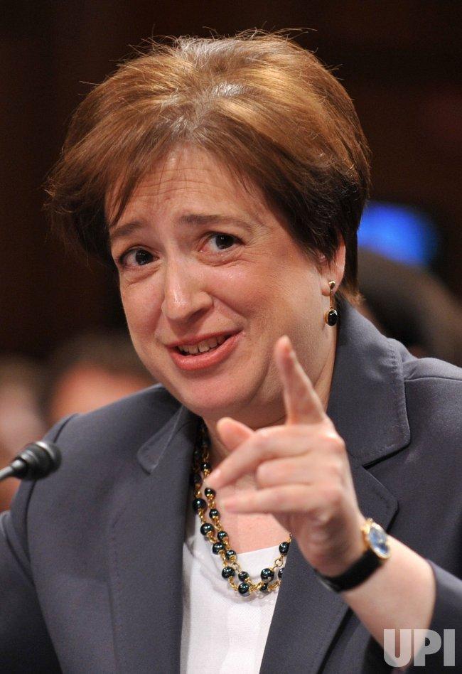 Supreme Court nominee Elena Kagan testifies during her confirmation hearing in Washington