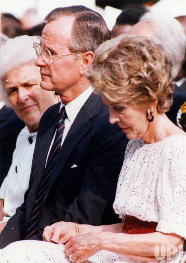 Vice President Barbara Bush Nancy Reagan