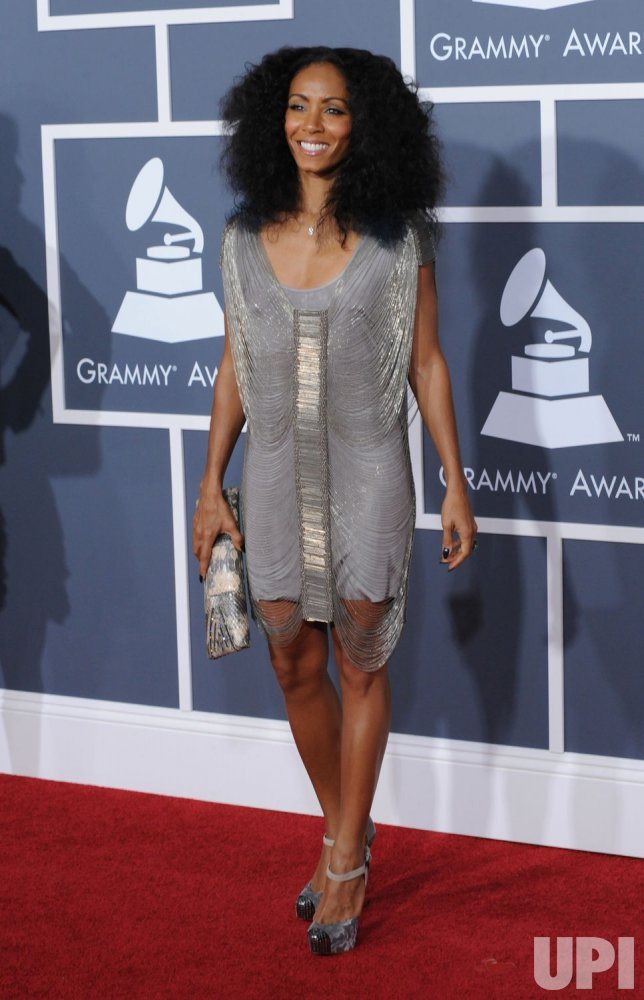 Jada Pinkett Smith arrives at the 53rd Grammy Awards in Los Angeles