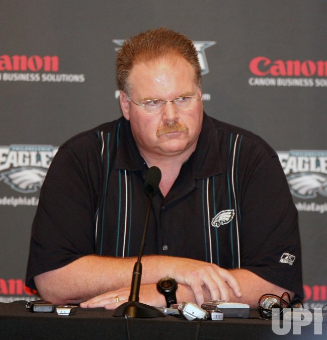PHILADELPHIA EAGLES HEAD COACH ANDY REID NEWS CONFERENCE