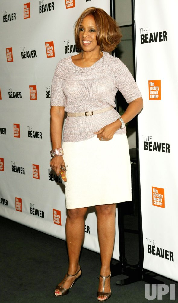 "Gayle King attends the screening of ""The Beaver"" in New York"
