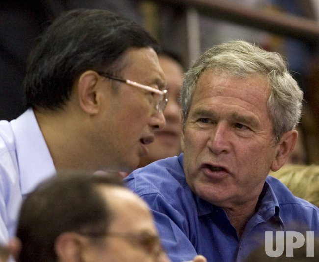 President Bush attends Olympic basketball game in Beijing