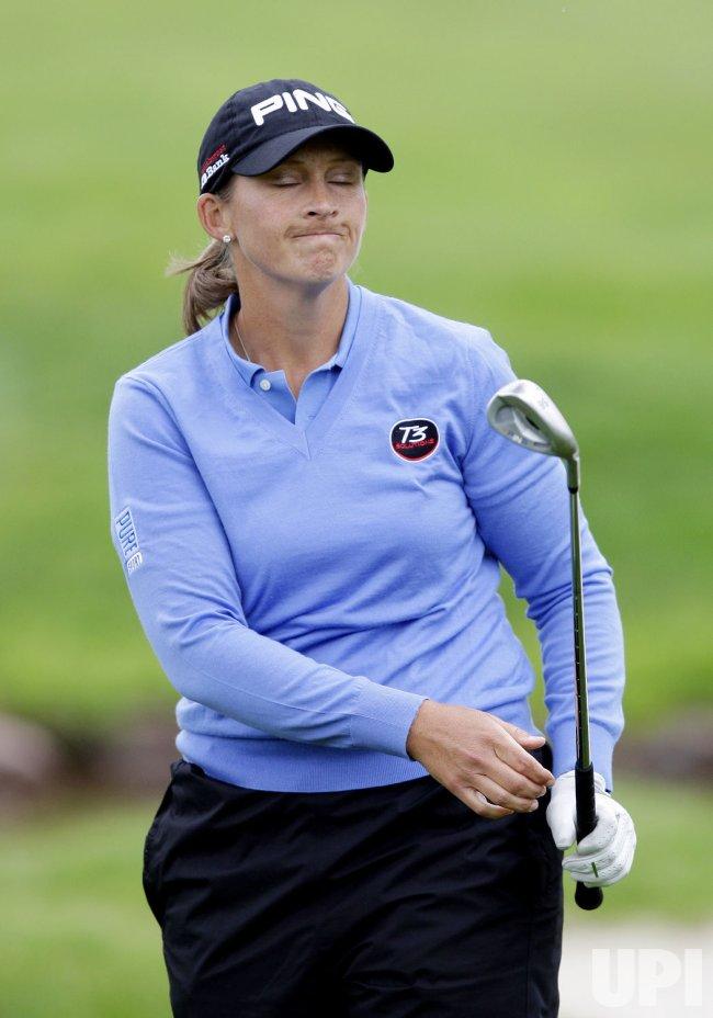 Angela Stanford at the Sybase Match Play Championship at Hamilton Farm Golf Club in Gladstone NJ