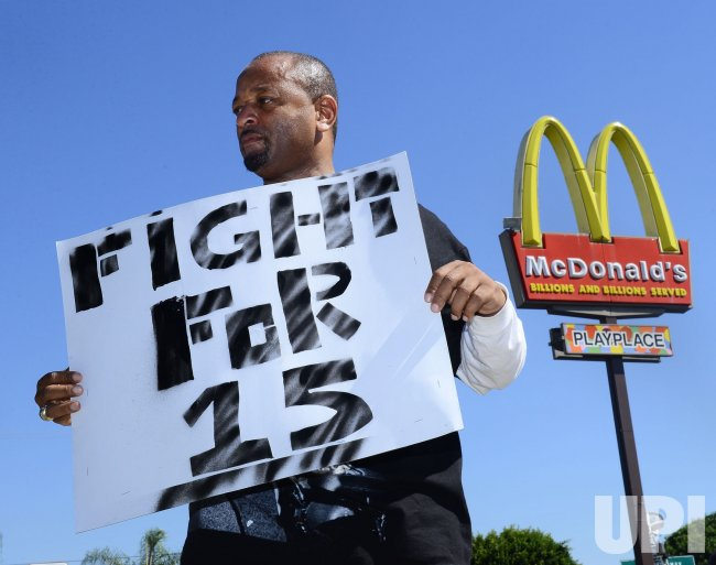 Fast food workers join nationwide strike in Los Angeles