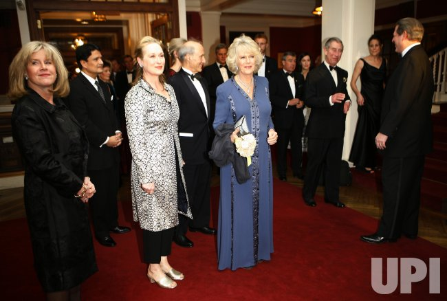 Camilla Duchess of Cornwall and Meryl Streep at Global Enviornmental Citizen Award dinner in New York