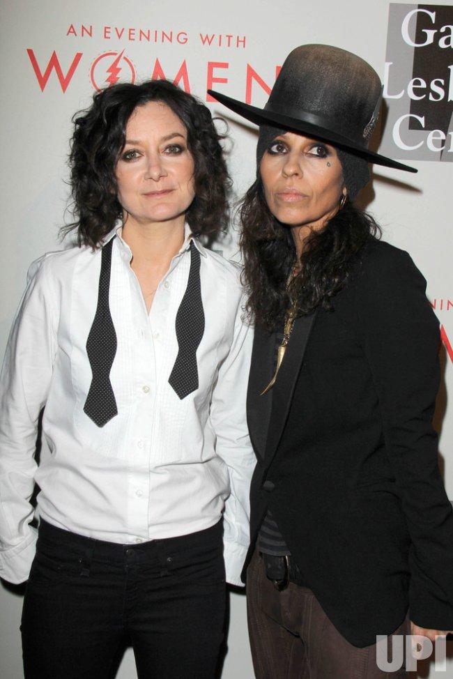 Sara Gilbert and Linda Perry