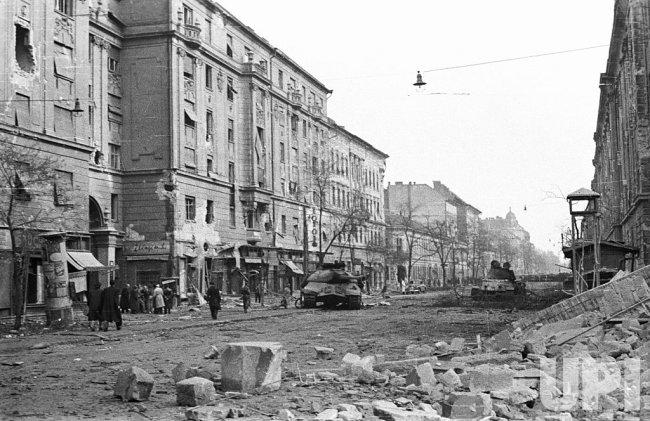 Grand Boulevard, Budapest, Hungary in 1956.