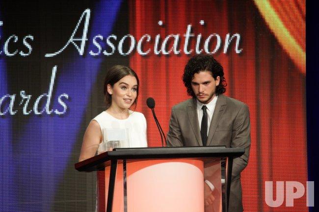"Emilia Clarke and Kit Harington of ""Game of Thrones"" at TCA Awards."