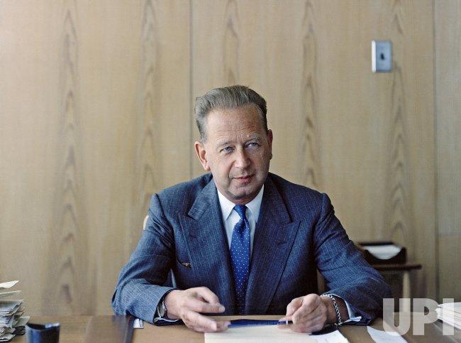 Portrait of Secretary-General Dag Hammarskjold