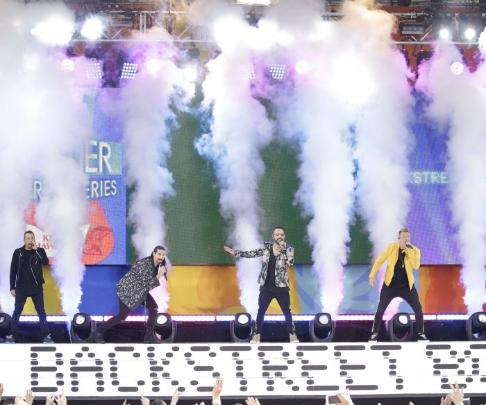 Backstreet Boys perform on 'Good Morning America'