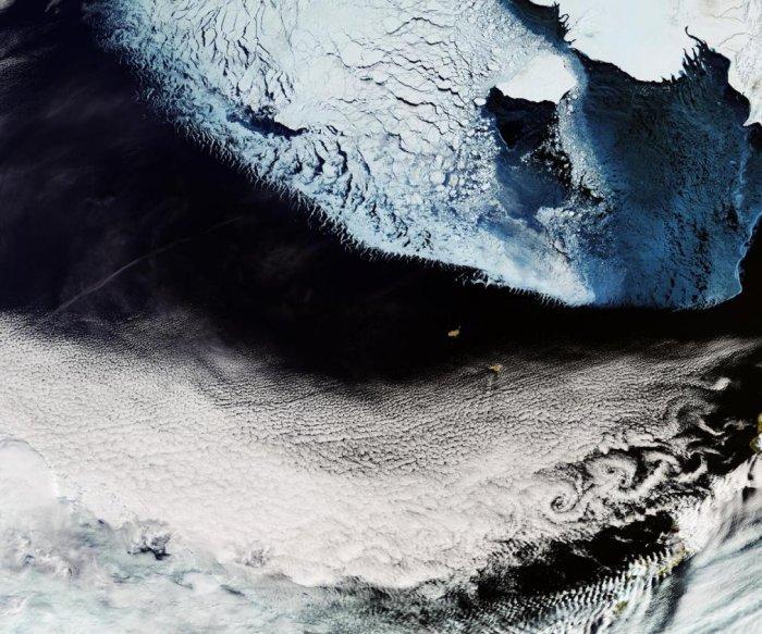 Beautiful Bering Strait image captured by Copernicus satellite